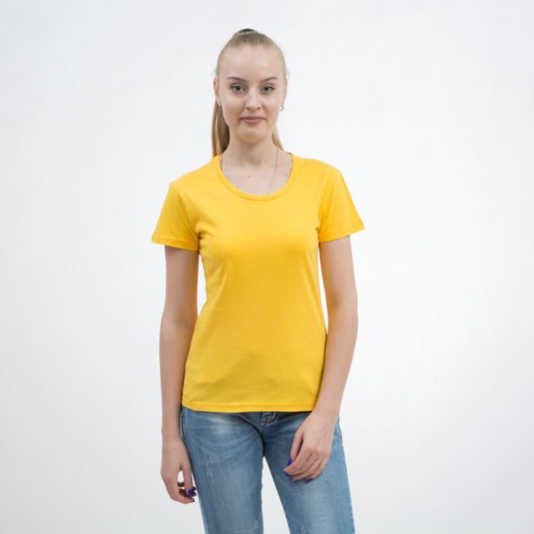 Women's yellow t-shirts
